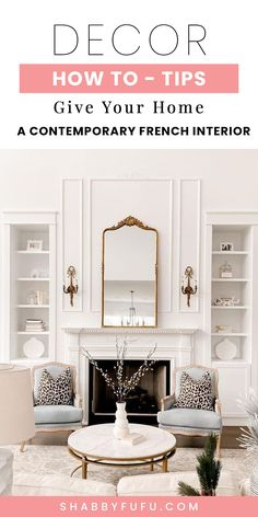 How to update your home in style with tips for a contemporary French interior. Learn what to edit and the most important aspects to decorating your rooms! #Frenchinterior #modernfrenchdecor #decoratingtips #interiordesigntips #design #interiors #modern #Frenchdecor Modern French Interiors, Modern French Decor, French Interior Design, Contemporary Decor, French Style Homes, Design Interiors, Decorating, Studio, Tips