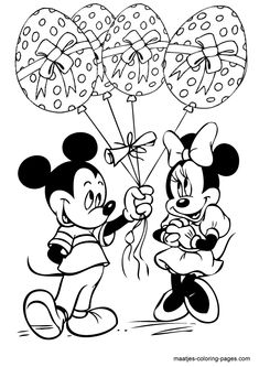 Minnie And Mickey Easter Eggs Balloons Disney Coloring Pages, easter egg coloring pages, mickey and minnie, easter coloring pages, Free online coloring pages and Printable Coloring Pages For Kids Birthday Coloring Pages, Valentine Coloring Pages, Easter Coloring Pages, Christmas Coloring Pages, Colouring Pages, Coloring Pages For Kids, Coloring Books, Free Coloring, Online Coloring