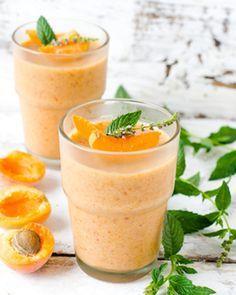 Mousse à l'Abricot, Purée d'Amande & Lait de Coco ~ retrouvez la #recette ici ➔ http://www.bjorg.fr/les-bonnes-recettes/mousse-abricot-lait-coco.html