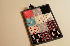 Bunny and Cat Quilted Pot Holder Modern Kitchen by MyBitOfWonder