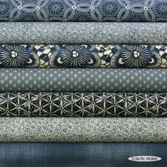 Moda Fabric Pack Kasuri in Blossoms fat quarter fabric bundle from Eclectic Maker