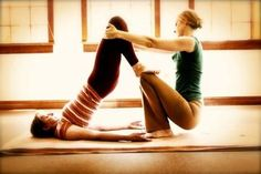 Thai Yoga   We could try this couples pose!...