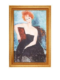Amedeo Modigliani: Redheaded Girl in Evening Dress (Jeune fille rousse en robe de soir), 1918