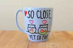 so close yet so far coffee cup long distance mug going away gift idea for best friend by astraychalet