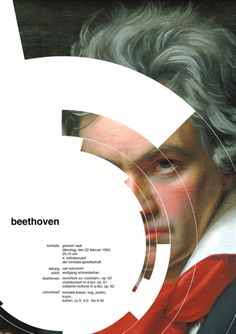 "Jessica Svendsen decided to do a workshop at Yale with several redesigns during 100 days of the poster ""beethoven"" of Josef Müller-Brockmann.  http://ampersandsetc.tumblr.com/post/9840814746/heraldicstyle-jessica-svendsen-decide-en-un"