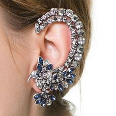 Cheap earrings pics, Buy Quality earring vintage directly from China earings display Suppliers: 2015 Retro Blue Crystal Birds Ear Cuff Earrings For Left Ear Stud Earring Clip On Earrings For Women Cheap Earrings, Cuff Earrings, Crystal Earrings, Clip On Earrings, Crystal Rhinestone, Ear Cuffs, Fashion Earrings, Fashion Jewelry, Women Jewelry