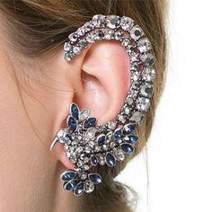 USD3.49Fashion Rhinestones Embellished Metal Earrings
