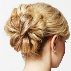 25 Most Beautiful Easy Updos. Lovely back; could it work with some hair coming down to side?