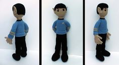 Spock Amigurumi by *bandotaku on deviantART! This the most magnificent piece of amigurumi I have ever seen!!!!