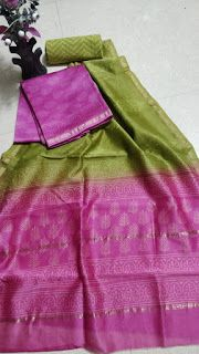 Chanderi silk dress materials with price . These materials good for daily wear like office, collage,etc.,looks very decent and rich . Khadi Kurta, Chanderi Suits, Salwar Suits, Patiala, Salwar Kameez, Churidar Designs, Kurta Designs Women, Elegant Fashion Wear, Women's Fashion