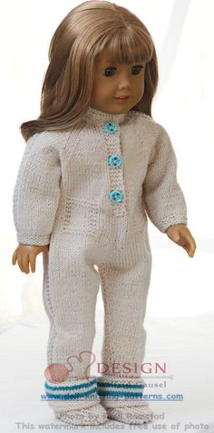 Knitting pattern for American Girl doll sweater