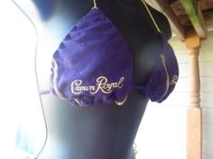 crown royal bikini made from 3 crown royal bags by yomamamadeit, $40.00