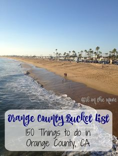 An Orange County Bucket List for your trip to California with 150 suggestions to help you plan things to do, beaches to visit, hikes, and cupcakes to eat! Informations About Orange County Bucket List Orange County California, Irvine California, California Vacation, Orange County Hikes, Southern California, California Camping, California Destinations, California Living, Oklahoma