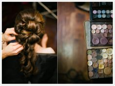 getting ready // hair and makeup hues // #cincinnati #wedding photography by Jonathan Gibson