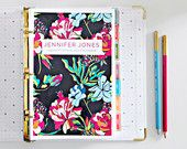 Standard Size Personalized Daily Planner Coversheet Printable PDF
