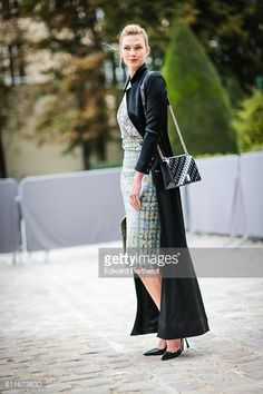 Model Karlie Kloss is seen outside of the Christian Dior show during Paris Fashion Week Spring Summer 2017 at the Rodin museum on September 30 2016...