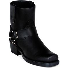 Durango Boots – Men's Black Leather Harness Boots - Durango Boot Company Biker Boots, Motorcycle Boots, Cowgirl Boots, Western Boots, Riding Boots, Men Boots, Leather Men, Leather Boots, Black Leather