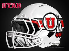 Charles Sollars Concepts @Charles Sollars #utah #utes white helmet concepts see the full set on my new website Charles Sollars Concepts http://www.charlessollarsconcepts.com/utah-utes-white-helmet-concepts/