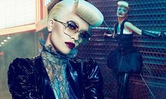 Rita Ora dons latex stockings for a racy retro shoot for Vogue Italia