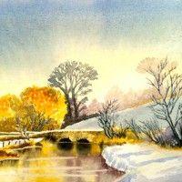 Keble Bridge Eastleach - From David Bellamy's book: Developing Your Watercolours