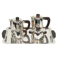 Exceptional Art Deco Coffee and Tea service Set by Christofle | From a unique collection of antique and modern tea sets at http://www.1stdibs.com/furniture/dining-entertaining/tea-sets/