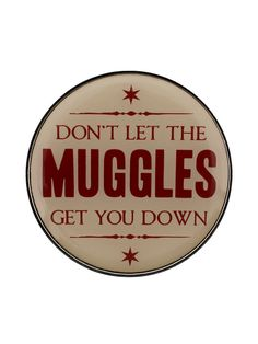 Don't let the Muggles get you down! Bring some magical, positive vibes to your look with this cute and quirky Harry Potter enamel pin badge! The perfect accessory for every witch and wizard looking to add a new dimension to their Hogwarts uniform! Official merchandise.