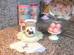 madame coco sunum #sunum #mutfak #kitchen #granit #tezgah #madamecoco #englishhome #tedi #mint #dog #pastel #fanus #peçete