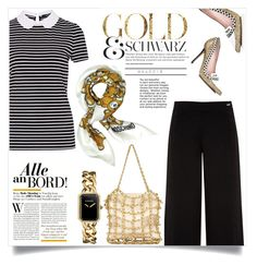 """""""GOLD & SCHWARZ"""" by menina-ana ❤ liked on Polyvore featuring Kate Spade, Ted Baker, Hallhuber, Moschino and Chanel"""