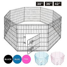 Fences and Exercise Pens 20748: 30''36''42 8 Panel Pet Playpen Dog Cage Kennel Crate Metal Enclosure Fence BUY IT NOW ONLY: $36.99