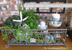 Welcome Summer with a Seaside Garden Centerpiece {Tutorial}