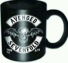 AVENGED SEVENFOLD Death Bat Mini Mug Official Band Merch Ceramic New Boxed