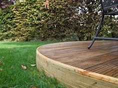 Round Garden Design Plans | The decking has transformed our garden! It has gone from being a ...