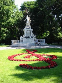 Vienna, Austria.    music note..... or anything is possible to do with petals.