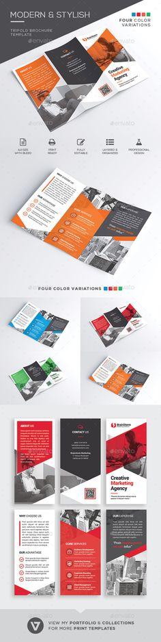 Trifold Brochure Template - Corporate Brochures