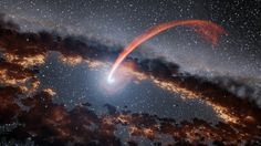 """When a star drifts too close to a black hole, it meets a grisly fate. The black hole stretches out the star and eventually swallows it up. The violent feeding frenzy is called a """"stellar tidal disruption,"""" according to NASA. The event generates a… Cosmos, Constellations, Camping 3, Nasa Images, Helix Nebula, Orion Nebula, Image Of The Day, Astrophysics, Photo Instagram"""