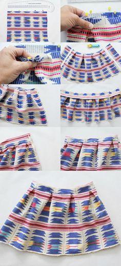 how to make a pleated mini skirt || pleated mini skirt DIY