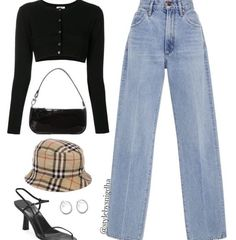 Teen Fashion Outfits, Edgy Outfits, Retro Outfits, Cute Casual Outfits, Look Fashion, New Outfits, Korean Fashion, Vintage Outfits, Girl Outfits