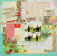 Love, love, love this page. What a fun way to use a little bit of everything. Lilith's scrapbooking venture