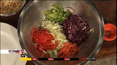 Chef Wendell: Rainbow Garden Salad with Noodles and Spicy Thai Almond Dressing