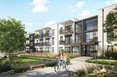 Pierwszy etap budowy osiedla Avia w Bydgoszczy. Mieszkania w stanie deweloperskim. Projekt Moderator Inwestycje Multi Story Building