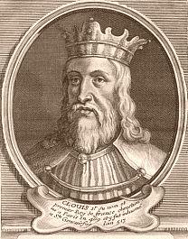 . Roi Clovis Ier (Francs), m�rovingien. Naissance, mort, couronnement, r�gne. M�rovingiens. Histoire de France. Patrimoine. Magazine