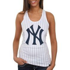 New York Yankees Ladies Striped Baseball Tank