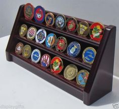 3 Tiers Challenge Coin Display Holder Rack Stand, Alternative to Display Case Challenge Coin Holder, Challenge Coin Display, Coin Display Case, Display Cases, Display Stands, Military Challenge Coins, Gifts For Veterans, Shadow Box, A Table