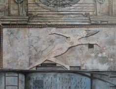 """""""AU SONGE BLEU"""" - Öl auf Holz - 187 x 240 cm Museum, Statue, Painting, Painting Art, Paintings, Paint, Draw, Sculpture, Museums"""