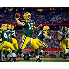 """Aaron Rodgers Green Bay Packers Fanatics Authentic Autographed 16"""" x 20"""" Super Bowl XLV Throwing Photograph - $399.99"""