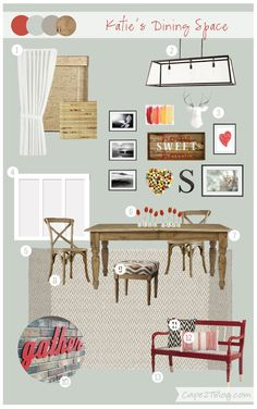 Cape 27 Custom Mood Boards: Katie's Dining Space