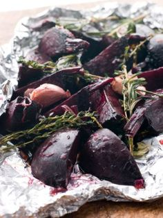 Roasted beets are easy, taste sweet, and have an amazing texture. Once you learn how to roast beets in an oven or in the air fryer, you might find yourself making beet recipes much more often! How To Roast Beets Perfectly Roasted Beets, Grilled Veggies, Vegetable Sides, Vegetable Recipes, Cooking Vegetables, Beet Recipes, Healthy Recipes, Gastronomia, Recipes