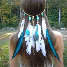 Resultado de imagen para Headdress with Feather , Výroba čelenky s peřím