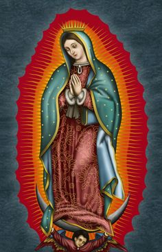 Mexican Artwork, Mexican Folk Art, Blessed Mother Mary, Blessed Virgin Mary, Mother Mary Tattoos, Virgin Mary Art, Christ Tattoo, Mama Mary, Chicano Art