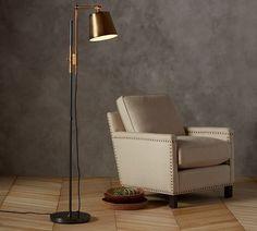 Pottery Barn Knox Bronze & Brass Task Floor Lamp
